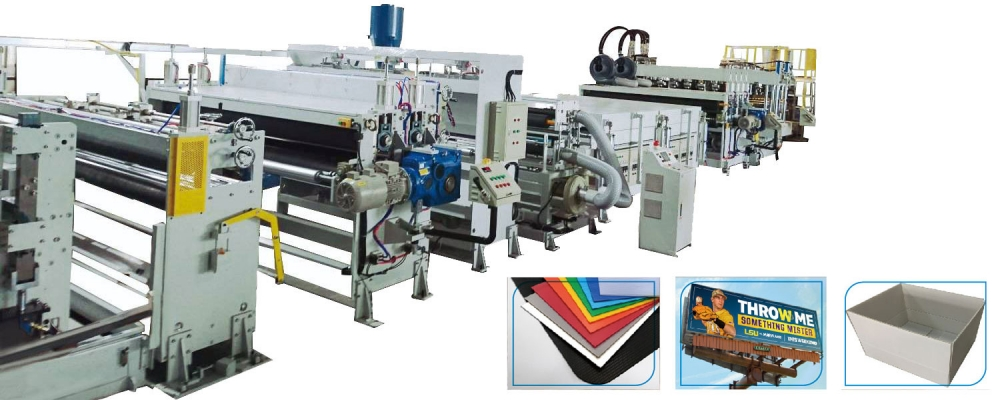 PP hollow sheet co-extrusion machine